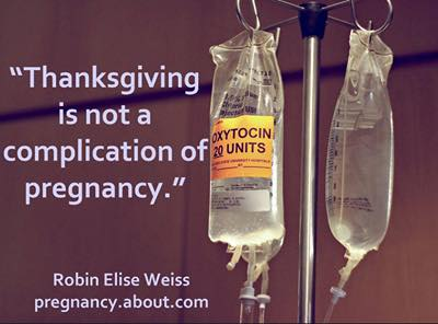 thanksgiving-is-not-a-complication-of-pregnancy